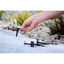Szpilki do agrowłókniny, obrzeży trawnikowych i siatek - 12 cm - 50 szt.