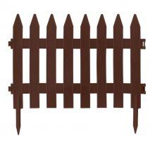 Płotek ogrodowy, wys. 27,5 cm - 3,2 m - brązowy