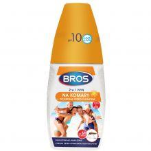Płyn na komary + filtr od słońca - 2 w 1 - Bros - 50 ml