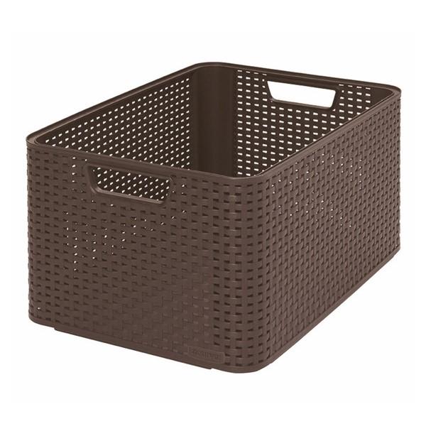 Koszyk Rattan Style - 30 litrów - ciemny br±z