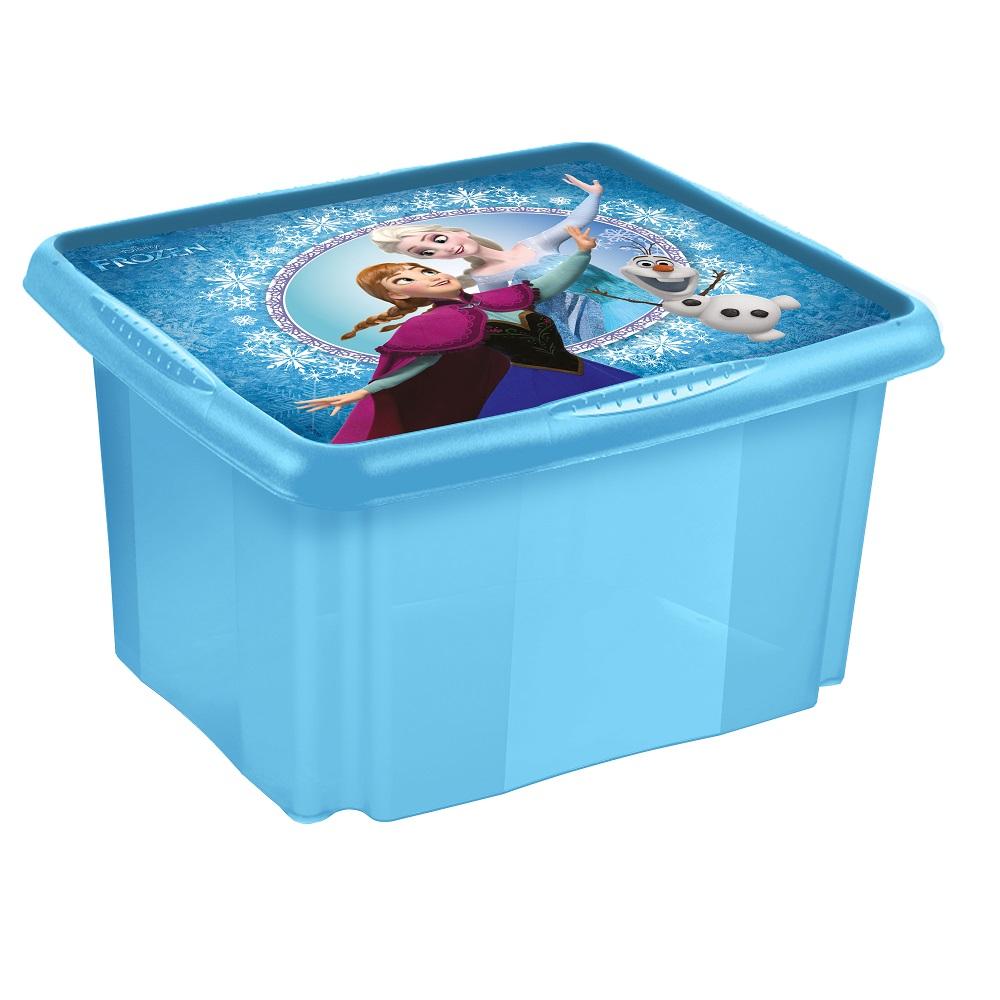 Pojemnik do przechowywania - Anna 'Kraina Lodu' - 24 litry - niebieski