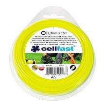Linka tnąca do podkaszarki, żyłka tnąca - 1,3mm, 15m - kwadratowa - CELLFAST