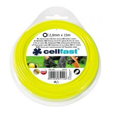 Linka tnąca do podkaszarki, żyłka tnąca - 2,0mm, 15m - kwadratowa - CELLFAST