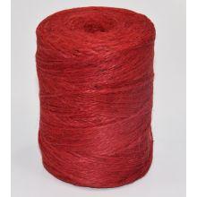 Sznurek jutowy - TEX 600/2 - czerwony - 250 g
