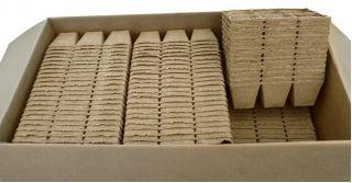 Doniczki torfowe kwadratowe 8x8 cm - 6 sztuk