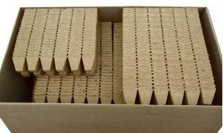 Doniczki torfowe kwadratowe 5x5 cm - 60 sztuk