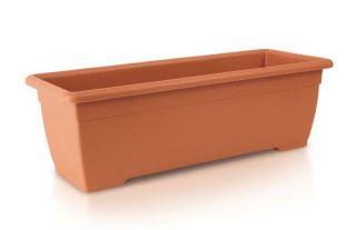 Skrzynka balkonowa Terra - terakota - 50 cm