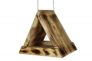 Karmnik dla ptaków - trójkątny - opalany