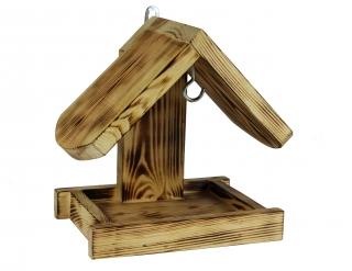 Karmnik dla ptaków - do powieszenia na ścianie - opalany