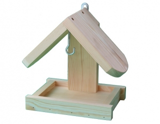 Karmnik dla ptaków - do powieszenia na ścianie - surowy