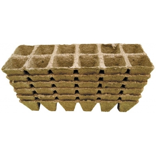 Doniczki torfowe kwadratowe 4x5 cm - 72 sztuki