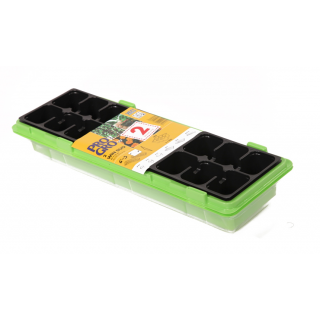Miniszklarenka zielona 47 x 15 cm z 18 doniczkami + druga GRATIS