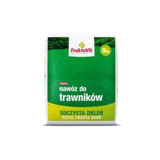 Nawóz do trawników soczysta zieleń, gęsta i zwarta darń - Fruktovit Plus - 5 kg