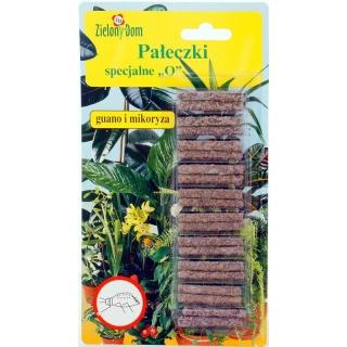 """Pałeczki nawozowe specjalne """"O"""" - dla roślin osłabionych przez szkodniki - Zielony Dom - 20 sztuk"""