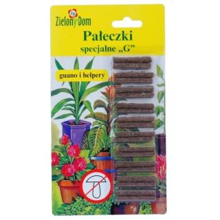"""Pałeczki nawozowe specjalne """"G"""" - dla roślin osłabionych przez choroby grzybowe - Zielony Dom - 20 sztuk"""