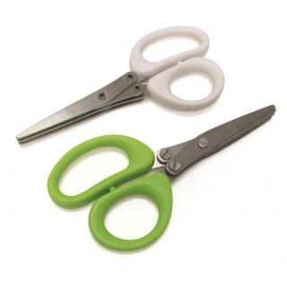 Nożyczki do ziół z potrójnym ostrzem - Herbs Cut - zielone