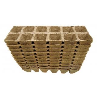 Doniczki torfowe kwadratowe 4x5 cm - 12 sztuk