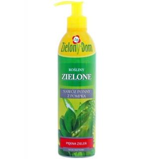 Nawóz z pompką do roślin zielonych - Zielony Dom - 300 ml