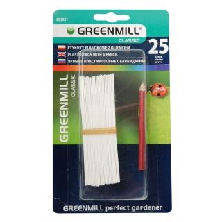 Etykiety do oznaczania roślin 10 cm - 25 szt. z ołówkiem