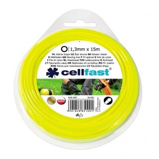 Linka tnąca do podkaszarki, żyłka tnąca - 1,3mm, 15m - okrągła - CELLFAST