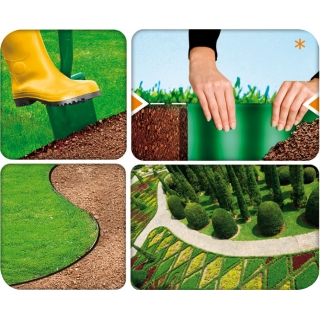 Obrzeże trawnikowe zielone - 20cm, 9m - CELLFAST