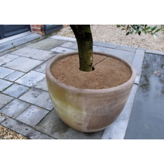 Osłona przed zimnem na korzenie z maty kokosowej - śr. 40 cm - 3 szt.