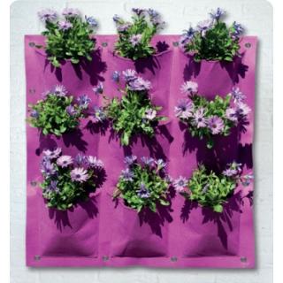 Wiszący ogród - kieszeń kwiatowa 9 komór - fioletowy