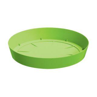 Lekka doniczka okrągła + podstawka Lofly - 13,5 cm - limonka