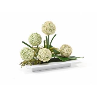 Ikebana prostokątna do kompozycji - 39 x 17 cm - biała