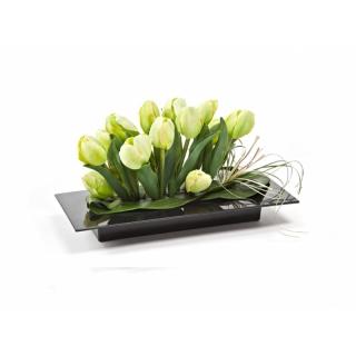 Ikebana prostokątna do kompozycji - 39 x 17 cm - czarna