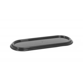 Zniczówka, podstawka pod znicze owalna - 40 cm - grafitowa