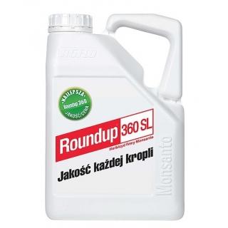 Roundup 360SL - środek chwastobójczy - koncentrat - duże opakowanie - 5 litrów