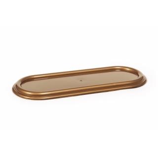 Zniczówka, podstawka pod znicze owalna - 40 cm - złota