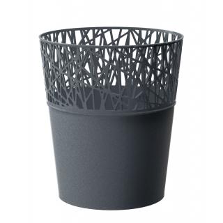 Osłonka z koronkowym wykończeniem, ażurowa City - 11,5 cm - grafit
