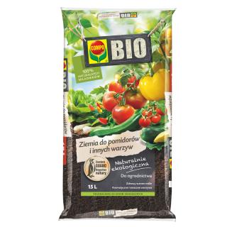 BIO Podłoże do pomidorów i innych warzyw - Compo - 15 litrów