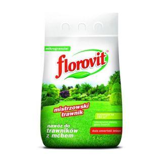 Nawóz do trawników z mchem - Florovit - 5 kg