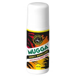 Mugga - najmocniejszy środek na komary - działa nawet w tropikach - roll-on 50 ml