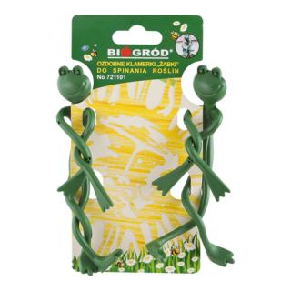 Ozdobne klamerki do spinania roślin - żabki - 2 szt.