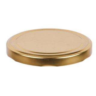 Zakrętki do słoików - złote - śr. 66 mm - 10 szt.
