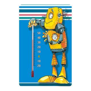 Termometr pokojowy samoprzylepny do pokoju dziecięcego - wzór robot