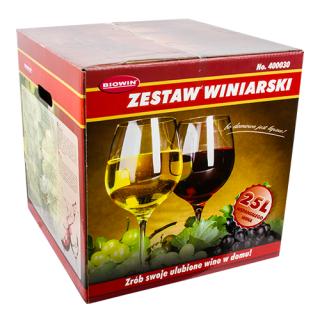 Kompletny zestaw winiarski z pojemnikiem fermentacyjnym - 25 litrów - idealny na prezent!