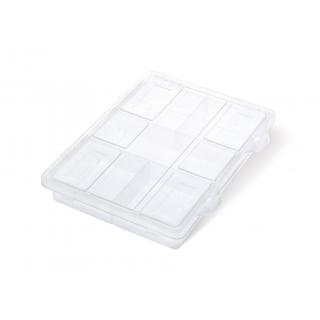 Skrzynka narzędziowa, organizer - 16 x 20 x3,5 cm - KNOX - bezbarwny