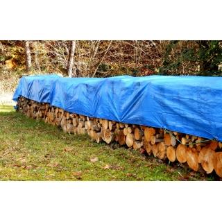 Plandeka - 6 x 8 m - niebieska