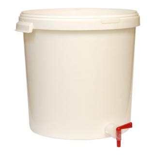 Pojemnik fermentacyjny z pokrywą i kranem - 30 litrów
