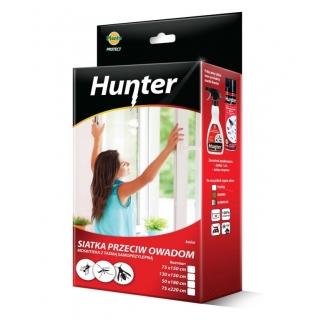 Siatka na okno przeciw owadom z taśmą samoprzylepną - szara - 75 x 150 cm - Hunter