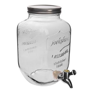 Słój Lemoniadolandia - z kranem i metalową zakrętką - 4 litry