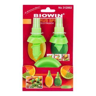 Spray do cytrusów - wyciskarka soku - cytrynowy aromat w sprayu - 2 szt. + podstawka