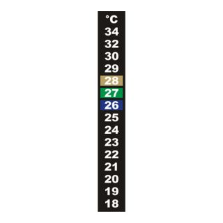 Termometr ciekłokrystaliczny - samoprzylepny - 18x130 mm