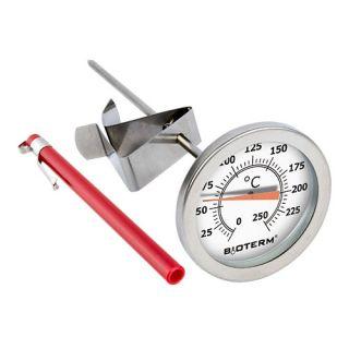 Termometr kulinarny do pieczenia, wędzenia, gotowania - z klipsem - 0-250 C - 180 mm