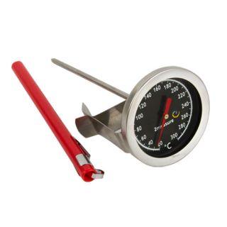 Termometr kulinarny do pieczenia, wędzenia, gotowania - z klipsem - 20-300 C - 140 mm